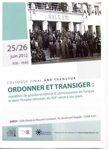 Colloque Final de l'ANR Transtur les lundi 25 et mardi 26 juin 2012
